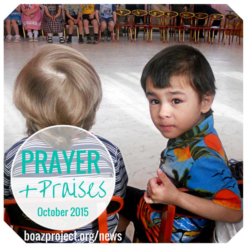 Prayer & Praises for October 2015